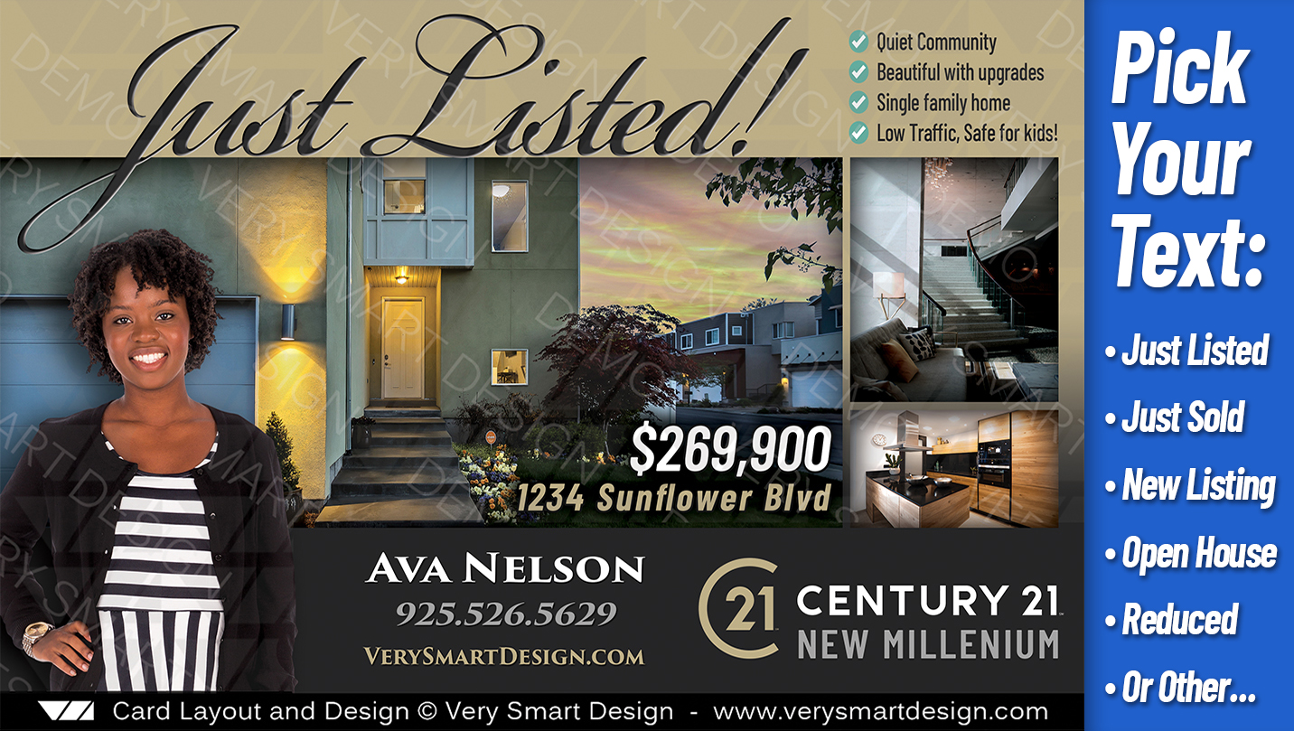 best new century 21 property promo post cards real estate