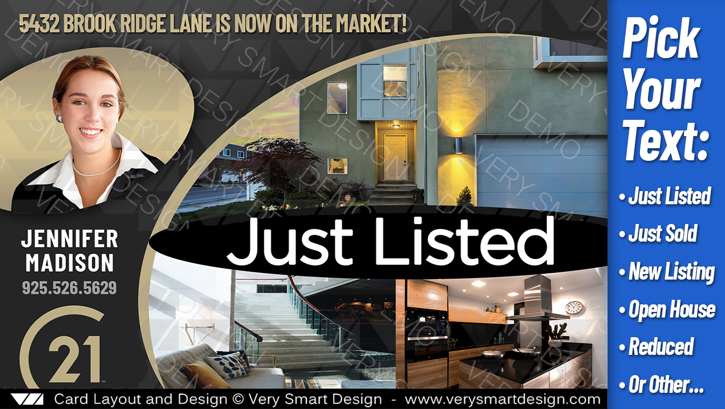 just listed best century 21 postcards for real estate templates c21