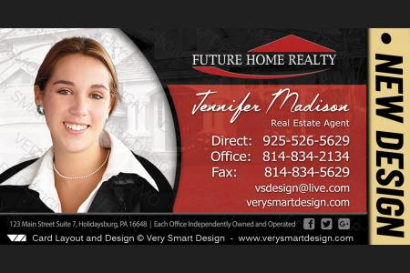 Future home realty business cards with new fhr design 9a red and white red and black future home realty new real estate business cards templates for fhr 9d colourmoves