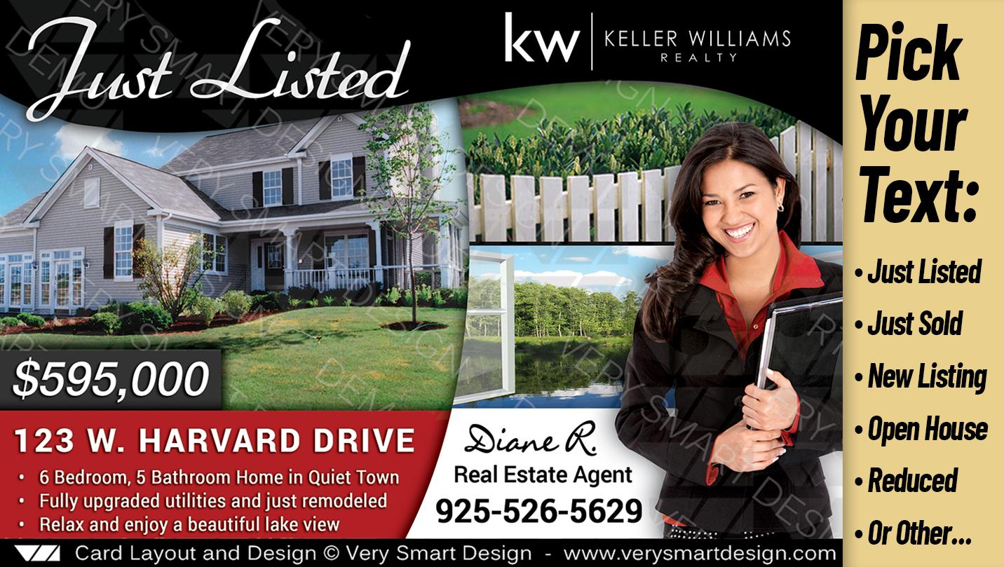 custom keller williams postcards real estate just listed templates