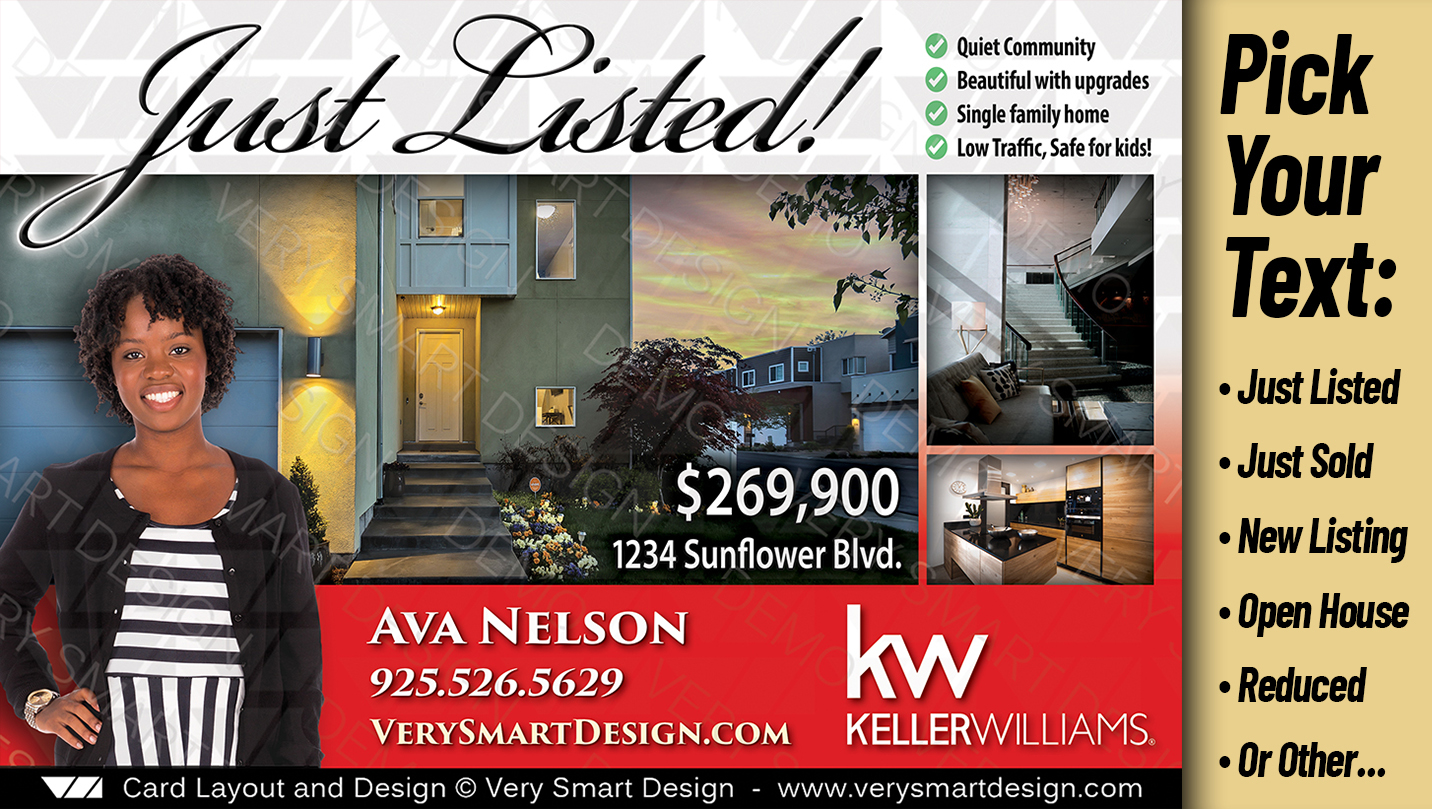 new just listed real estate postcards templates keller williams 3b
