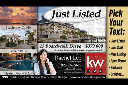 new just listed real estate postcards templates keller williams 4a
