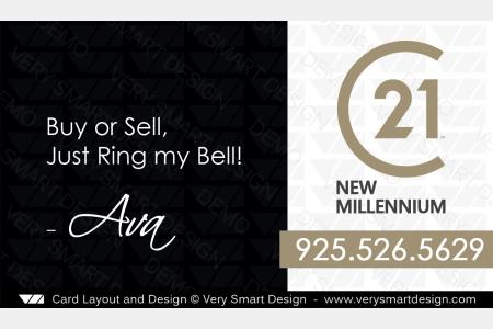 New Logo Business Cards For Century Real Estate Agents In USA D - Real estate business card template