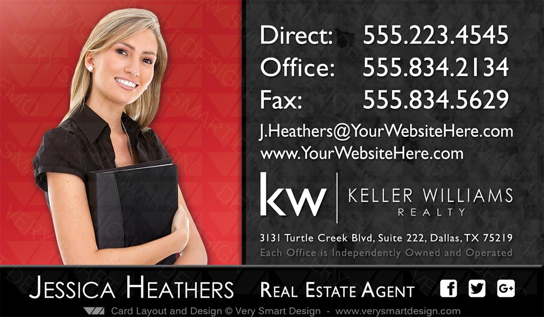 Keller williams realtor business cards for kw associates 4c dark red and dark gray keller williams realtor business cards for kw associates 4c colourmoves