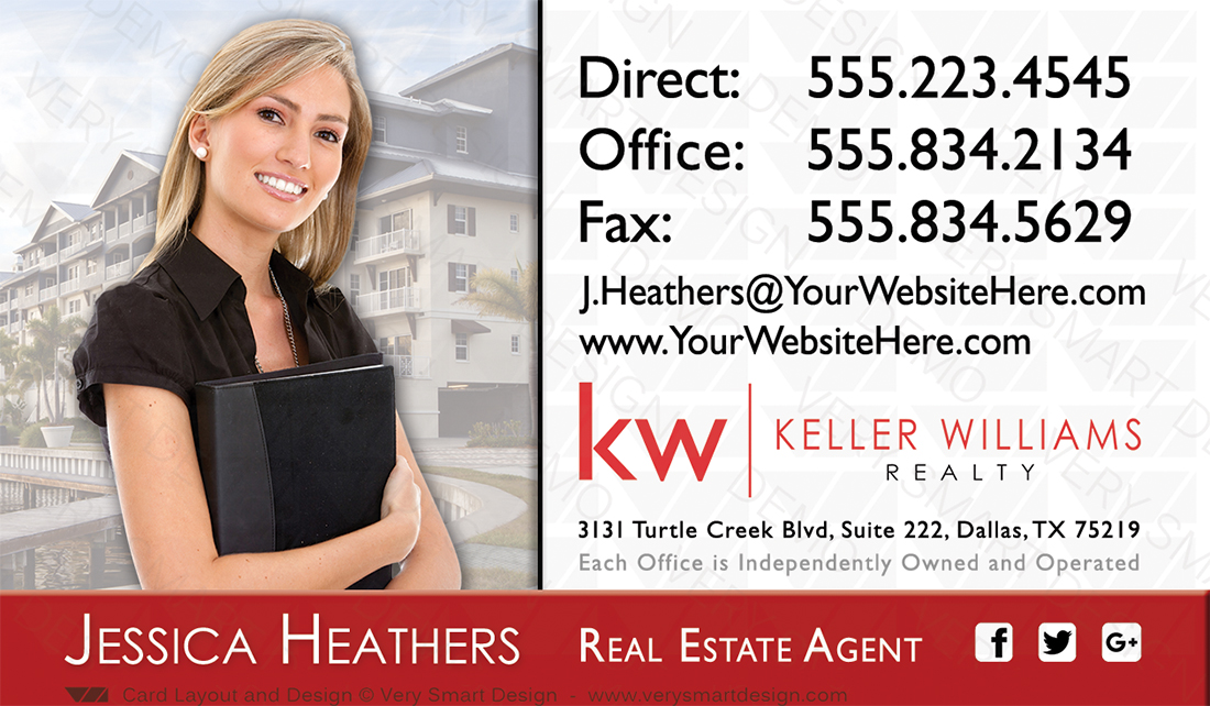 Custom keller williams business card template for kw usa 4e red and white and red custom keller williams business card template for kw usa 4e accmission Image collections