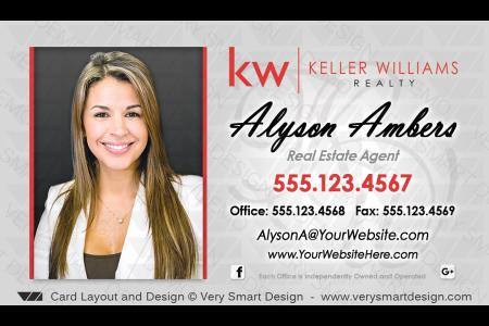 Keller williams realty business cards templates for kw realtors 5d silver and red kw agent real estate business cards keller williams design 5a colourmoves