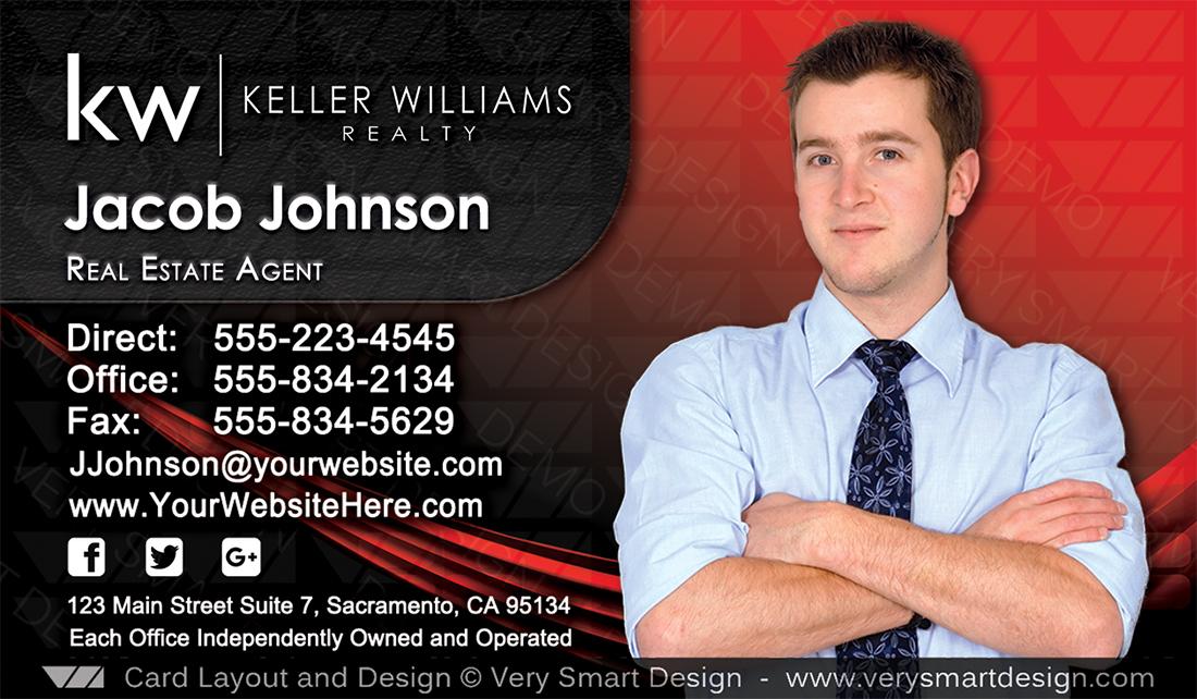 Keller williams realtor business cards for kw associates 7a black red and black keller williams realtor business cards for kw associates 7a colourmoves