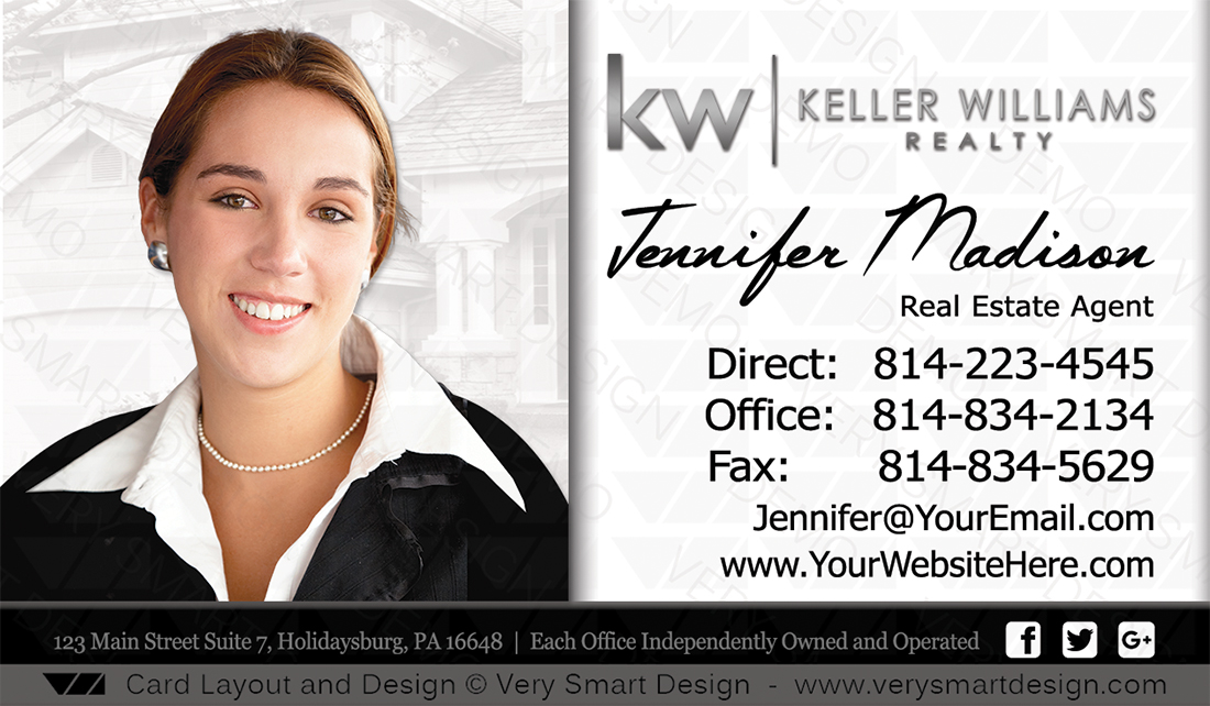 Keller williams real estate agent business cards for kw agents 9a white and black keller williams real estate agent business cards for kw agents 9a colourmoves