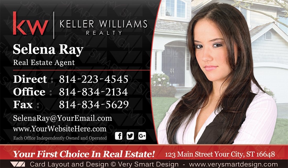 Keller williams real estate agent business cards for kw agents 11b black and red keller williams real estate agent business cards for kw agents 11b colourmoves