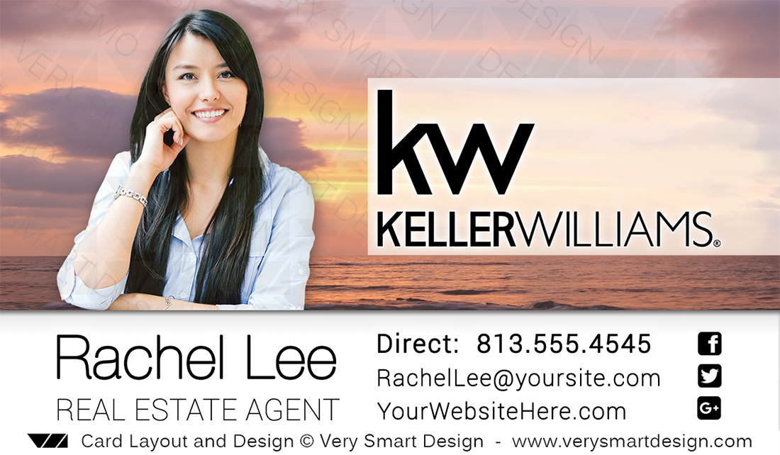 Keller williams realtor business cards for kw associates 15a pink white and pink keller williams realtor business cards for kw associates 15a colourmoves