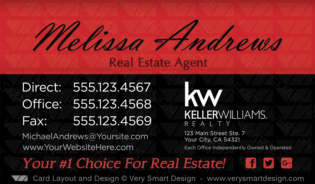 Business cards keller williams real estate agents in usa 17b black red and black business cards keller williams real estate agents in usa 17b reheart Images