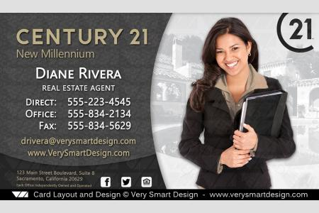 New C21 Logo Agent Real Estate Business Cards Century 21