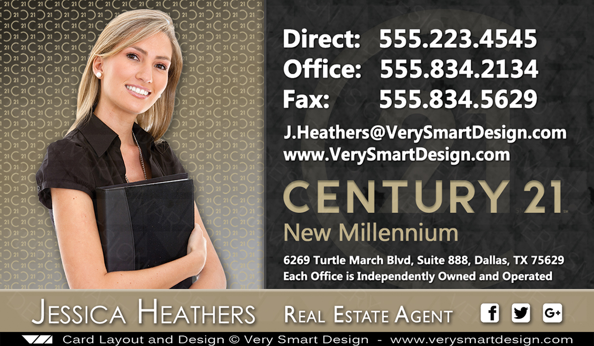 New logo business cards for century 21 real estate agents in usa 4b dark gray and gold new logo business cards for century 21 real estate agents in usa fbccfo Gallery