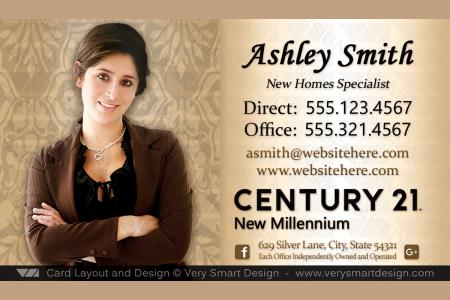 New C21 Logo Agent Real Estate Business Cards Century 21 Design 6a