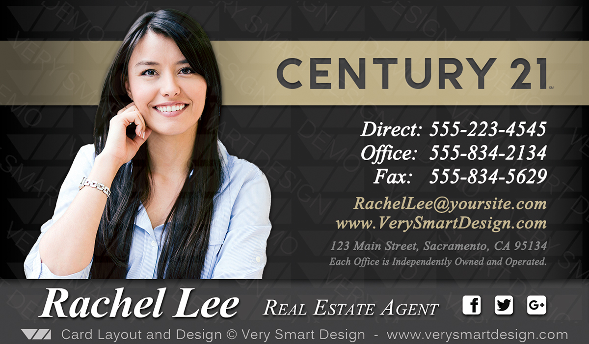 New century 21 business card for real estate agents design 8 image new century 21 business card for real estate agents design 8 flashek Images