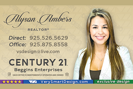 New c21 logo agent real estate business cards century 21 design 10a gold and black century 21 realty new logo business cards templates for c21 realtors 10b wajeb Choice Image