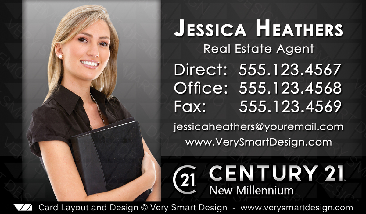 New logo business cards for century 21 real estate agents in usa 14d dark gray and white new logo business cards for century 21 real estate agents in usa fbccfo Gallery