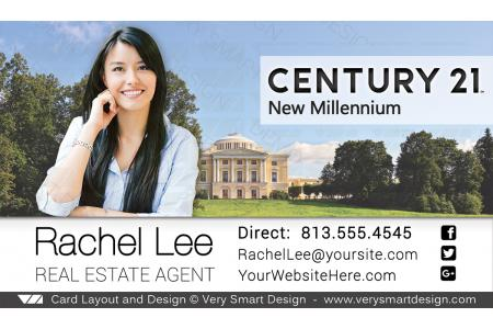 Century 21 Real Estate Business Cards With New C21 Logo Agents 15c