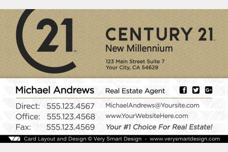 Custom century 21 new logo real estate business card designs for c21 gold and white century 21 real estate business card design with new c21 logo 16a accmission Images