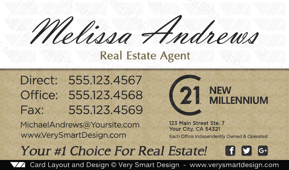New c21 logo agent real estate business cards century 21 design 17c white and gold new c21 logo agent real estate business cards century 21 design 17c reheart Choice Image