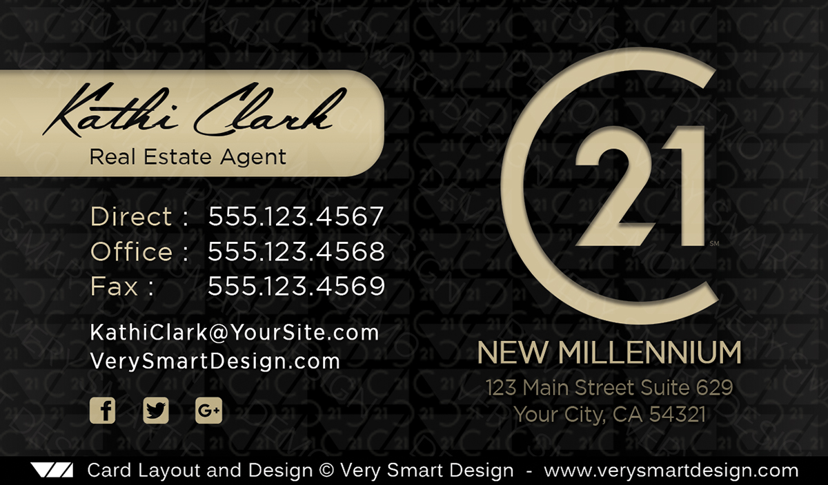 New logo business cards for century 21 real estate agents in usa 18a dark gray and gold new logo business cards for century 21 real estate agents in usa reheart Gallery