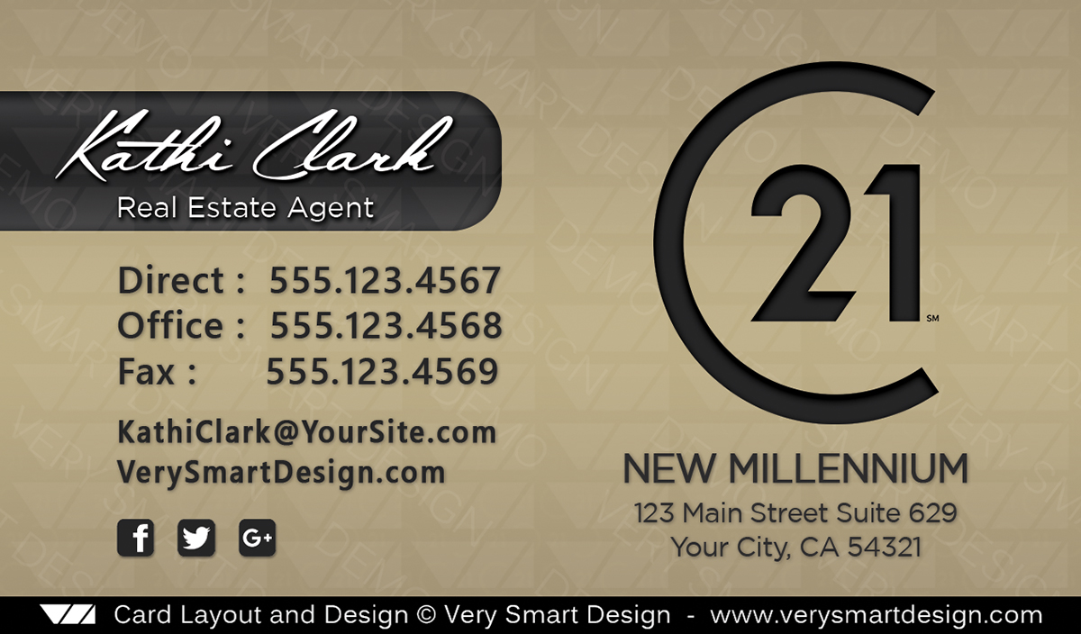 Century 21 real estate business card design with new c21 logo 18b gold and dark gray century 21 real estate business card design with new c21 logo 18b reheart Choice Image