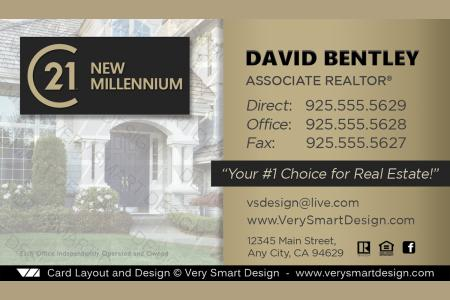 New c21 logo agent real estate business cards century 21 design 20b gold and dark gray century 21 new logo real estate business cards templates for c21 realtors cheaphphosting Image collections