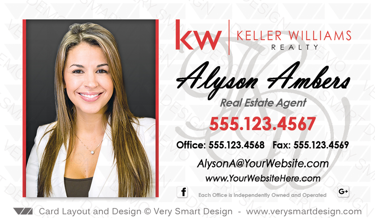Keller williams realty business cards templates for kw realtors 5d white and red keller williams realty business cards templates for kw realtors 5d colourmoves